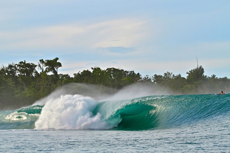 Greenbush - one of the types of surf breaks in the Mentawai Islands