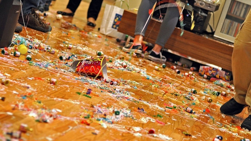 Post Christmas party mess